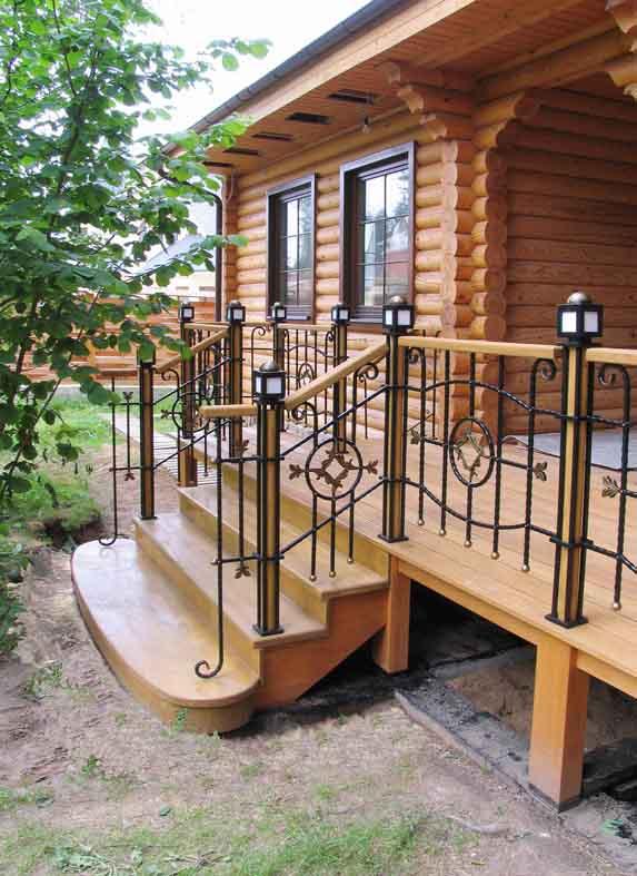 лестница для входной двери в частный дом